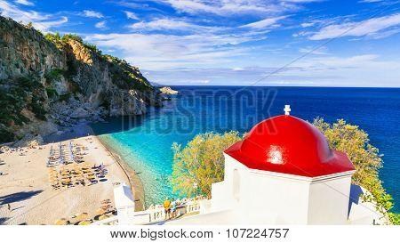most beautiful beaches of Greece. Karpathos island. Kyra panagia