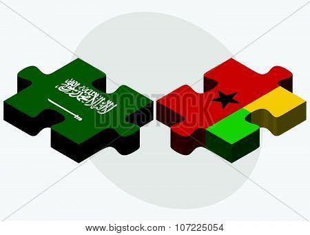 Saudi Arabia And Guinea-bissau Flags