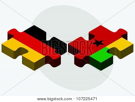 Germany And Guinea-bissau Flags
