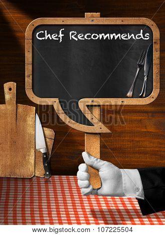 Chef Recommends - Empty Blackboard