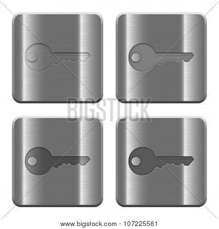 Metal Key Buttons