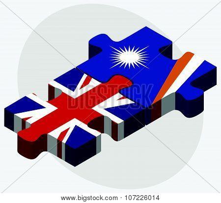 United Kingdom And Marshall Islands Flags