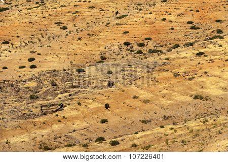 Desert landscape in Antiatlas Mountains, Morocco, Africa