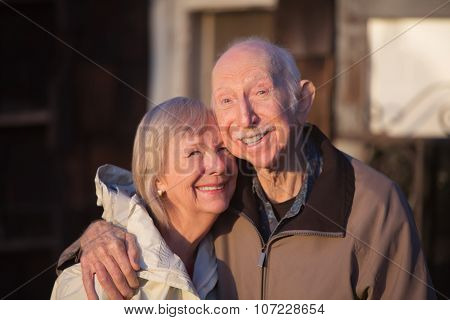 Grinning Older Couple