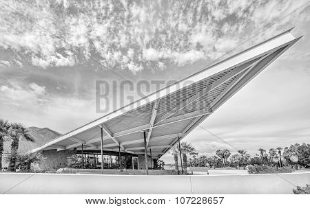 Historic Modernistic Design Tramway Gas Station In Palm Springs