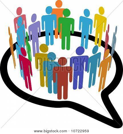 Social Media People Inner Circle Speech Bubble
