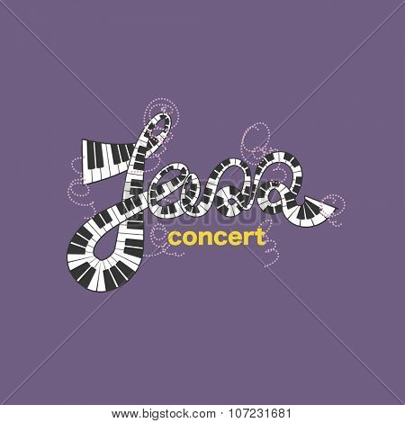 Jazz concert. Art concept. Vector illustration. Vector background