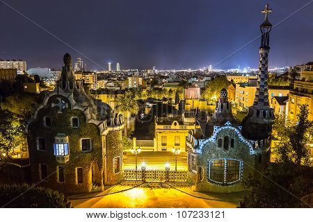 Park Guell In Barcelona,