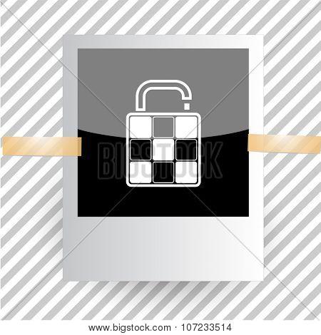 bag. Photoframe. Vector icon.