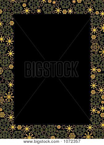 Luxury Golden Snowflakes