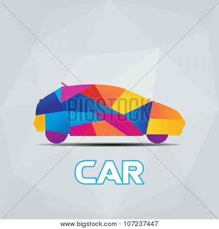 Colorfull Car Polygon Vector