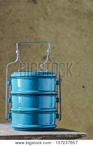 Metal Tiffin Carrier, Thai Food Carrier