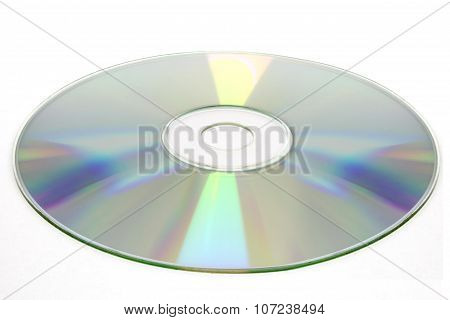 Cd Disc On White Background, Cd-r, Cd-rw Isolated, Clipping Path