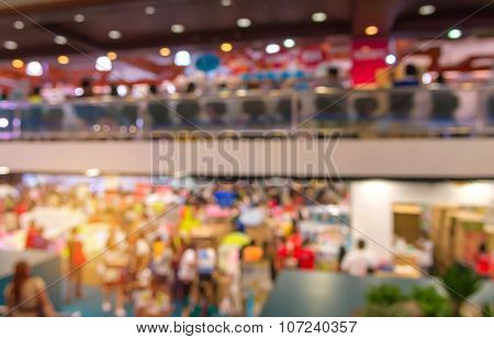 Blur Of Shopping At Supermarket Convenience Store