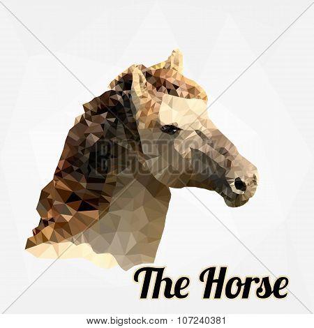 Horse Head Polygon Vector