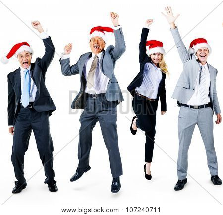 Business People Friendship Celebration Christmas Concept