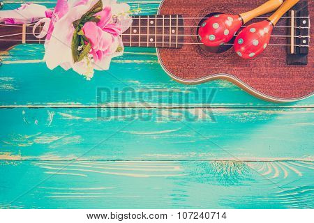Ukulele / Ukulele Background / Hawaii's Ukulele Music Instrument