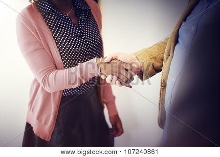Handshake Gesturing People Connection Deal Concept
