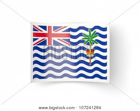 Bent Icon With Flag Of British Indian Ocean Territory