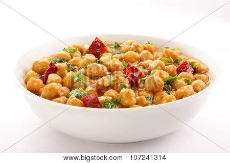 South Indian curry dish.channa masala