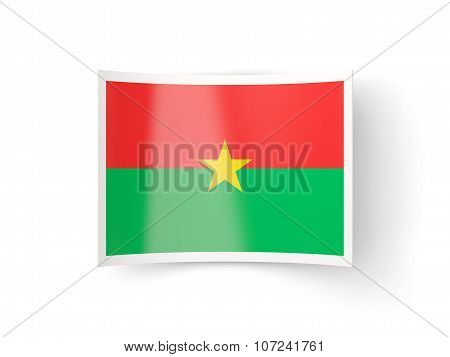 Bent Icon With Flag Of Burkina Faso