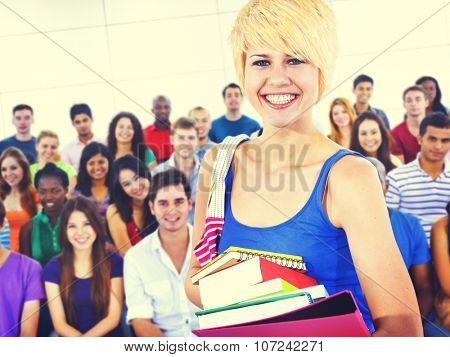 Diversity Casual People Friendship Classmates Concept