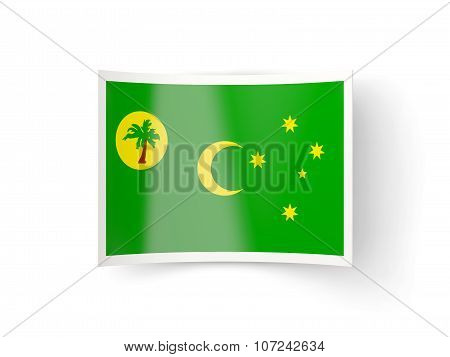 Bent Icon With Flag Of Cocos Islands