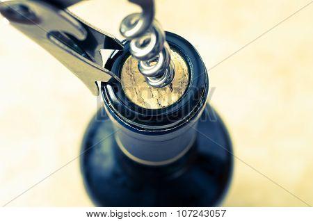 Opening A Wine Bottle