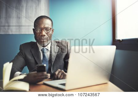 African Business Man Leader Business Corporate Concept