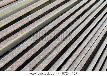 Old Steel Of Railroad