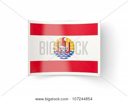 Bent Icon With Flag Of French Polynesia
