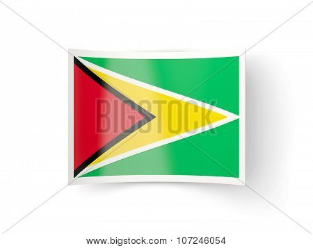 Bent Icon With Flag Of Guyana