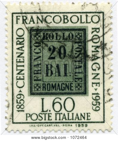 Vintage 60 L World  Postage Stamp Italy Circa 1959
