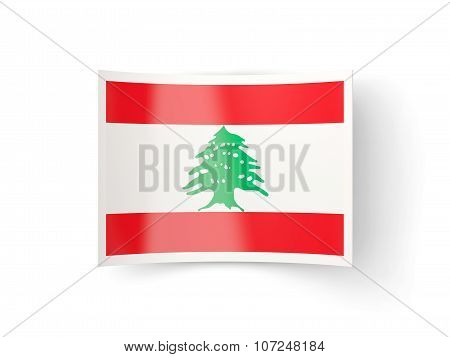 Bent Icon With Flag Of Lebanon