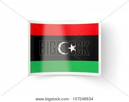 Bent Icon With Flag Of Libya