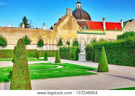 Area Of The Park-garden Complex Belvedere.vienna. Austria.