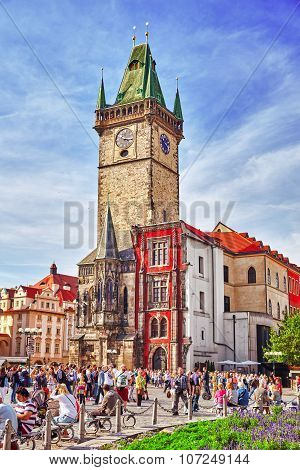 Prague,czech Republic- September 13, 2015: Church Of Our Lady(staromestske Namesti)on Historic Squar