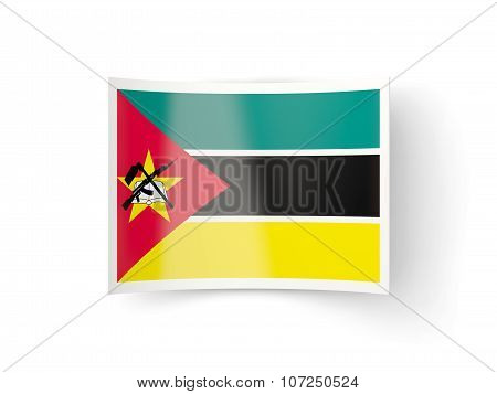 Bent Icon With Flag Of Mozambique