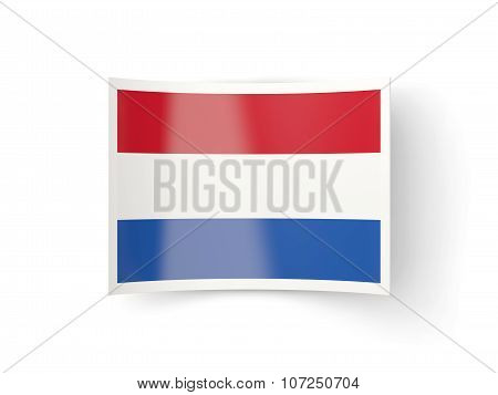 Bent Icon With Flag Of Netherlands