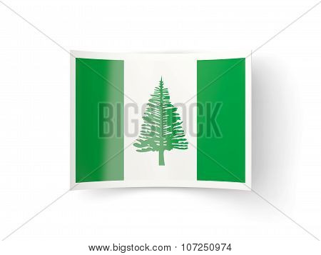 Bent Icon With Flag Of Norfolk Island