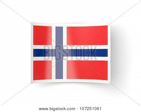 Bent Icon With Flag Of Norway