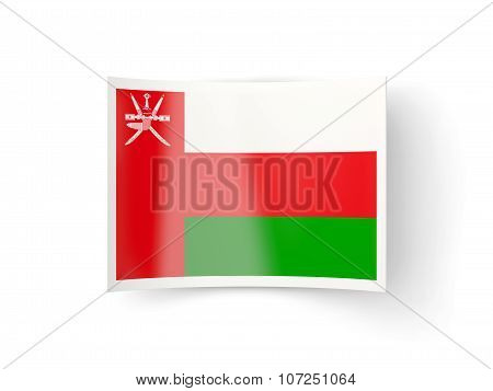Bent Icon With Flag Of Oman