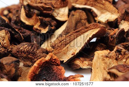 Heap Of Dried Mushrooms