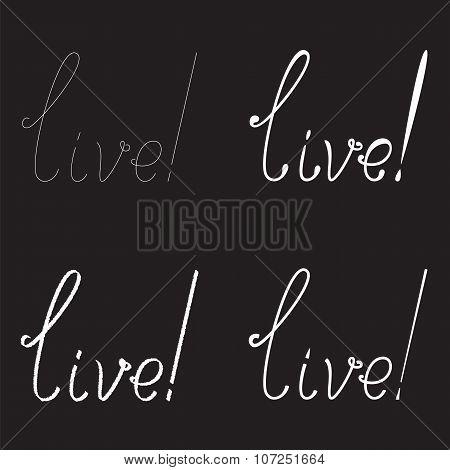 Set Of Live Lettering