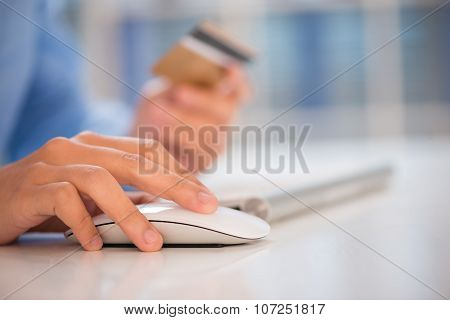 Clicking Computer Mouse