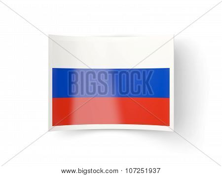 Bent Icon With Flag Of Russia