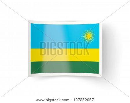Bent Icon With Flag Of Rwanda