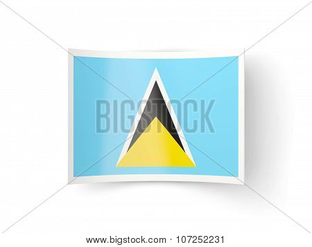 Bent Icon With Flag Of Saint Lucia