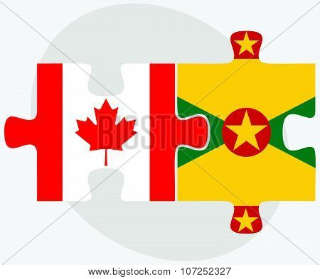 Canada And Grenada Flags