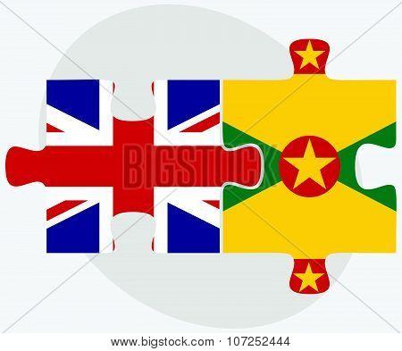 United Kingdom And Grenada Flags